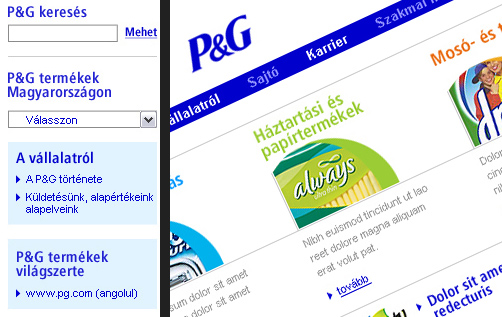 Procter & Gamble - Corporate site